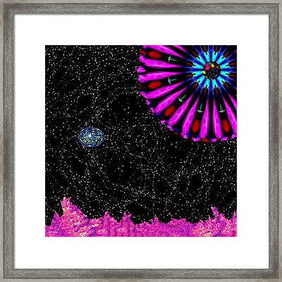 Unexpected Visitor Framed Print by Alec Drake