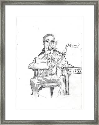 Unfinished Snoop Dogg Framed Print by Justin Chase