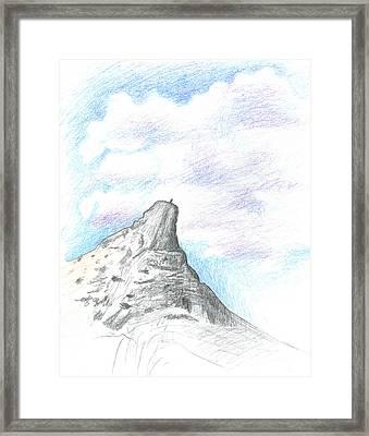 Unicorn Peak Framed Print by Logan Parsons