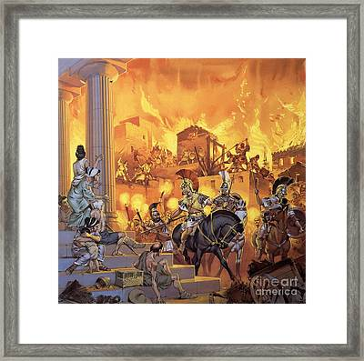 Unidentified Roman Attack Framed Print by Angus McBride