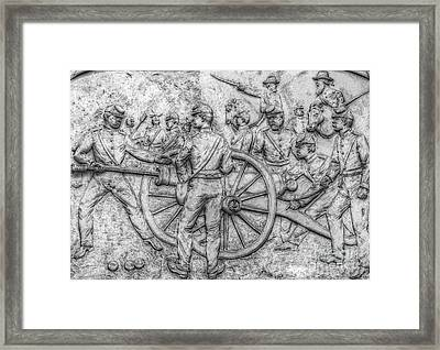Union Artillery Civil War Drawing Framed Print by Randy Steele