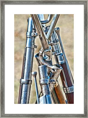 Union Muskets Framed Print by George Buxbaum