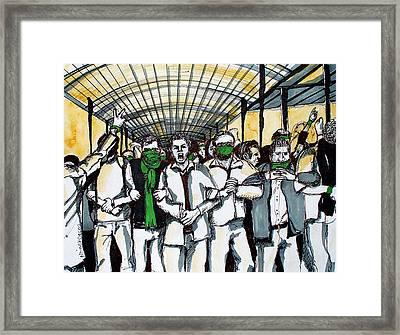 Union Framed Print by Nina Mirhabibi