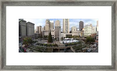 Union Square Sf Framed Print by Ron Bissett