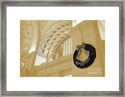 Union Station Holiday Framed Print by Jost Houk