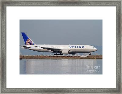 United Airlines Jet Airplane At San Francisco International Airport Sfo . 7d12079 Framed Print by Wingsdomain Art and Photography