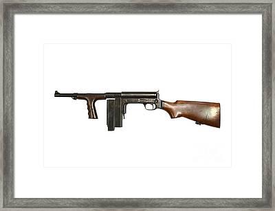 United Defense M42 Submachine Gun Framed Print by Andrew Chittock