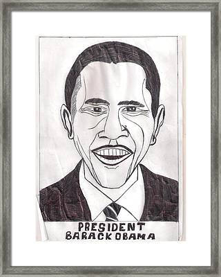 United State President Barack Obama Framed Print by Ademola kareem oshodi
