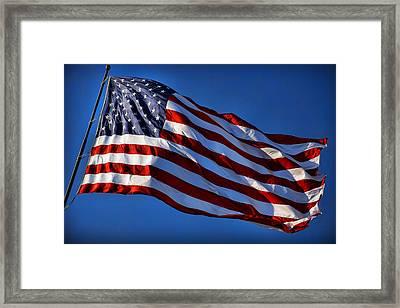 United States Of America - Usa Flag Framed Print by Gordon Dean II