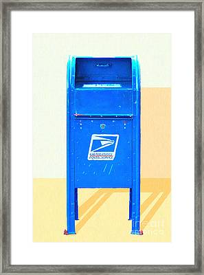 United States Postal Service Mail Box . Snail Mail Framed Print by Wingsdomain Art and Photography