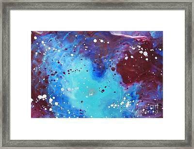Universal Healing Framed Print by Denise Nickey