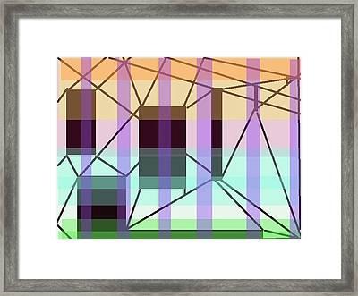 Universal Power Station Framed Print by Naomi Susan Schwartz Jacobs