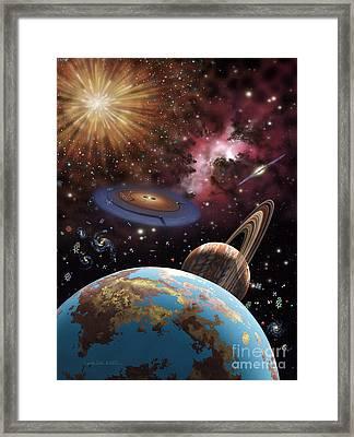 Universe II Framed Print by Lynette Cook
