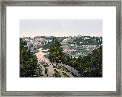 University Of Kiev - Ukraine - Ca 1900 Framed Print by International  Images
