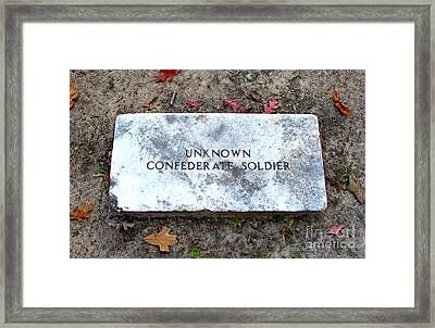 Unknown Confederate Soldier Framed Print by Renee Trenholm