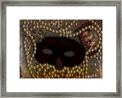 Unmask You Masquerades Dont Last Forever Framed Print by Pepita Selles