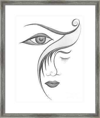 Unnamed Sketch 03 Framed Print by Joanna Pregon