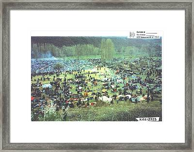 Unsheltered Islamic Kosovar Victims Framed Print by Everett