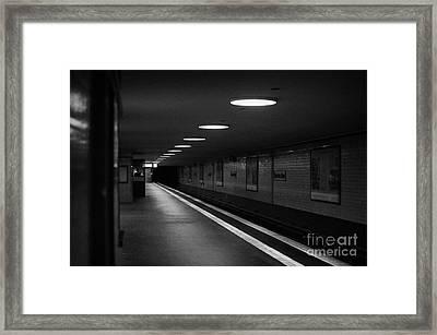 Unter Der Linden Ghost Station U-bahn Station Berlin Germany Framed Print by Joe Fox