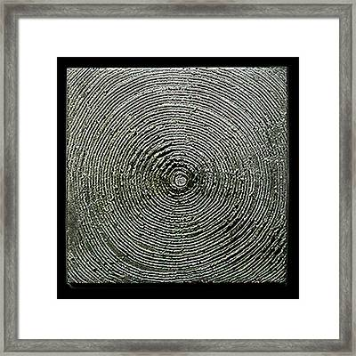 Untitled - Silver Gray 5 Framed Print by Li   van Saathoff