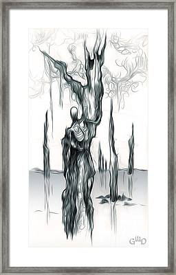 Up A Tree Up A Creek Framed Print by Gregory Dyer