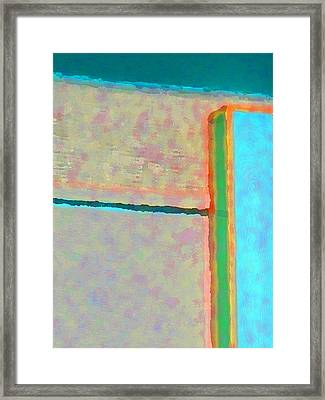 Framed Print featuring the digital art Up And Over by Richard Laeton