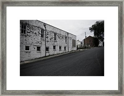 Uphill Framed Print by Michael Cunsolo