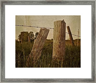 Uprights Framed Print by Odd Jeppesen