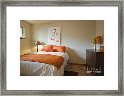 Upscale Bedroom Interior Framed Print by Inti St. Clair