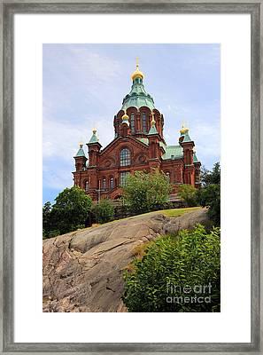 Upsenski Cathedral Framed Print by Sophie Vigneault