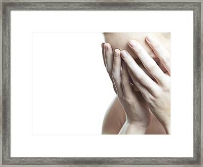 Upset Woman Framed Print by
