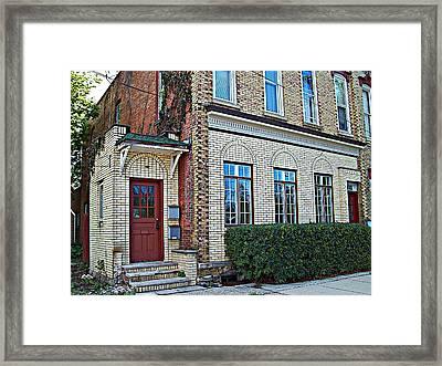 Upstairs - Downstairs Framed Print by MJ Olsen
