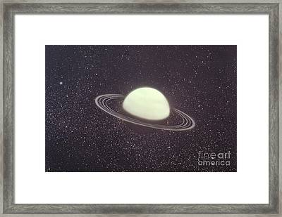 Uranus And Its Rings Framed Print by Nasa