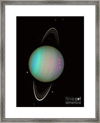 Uranus Framed Print by Science Source