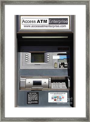 Urban Fabric . Automatic Teller Machine . 7d14178 Framed Print by Wingsdomain Art and Photography