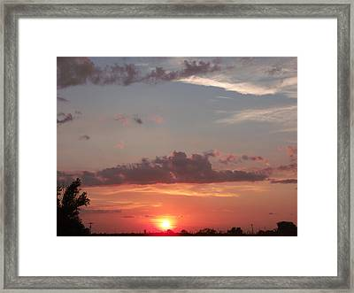Urban Sunset Life Framed Print by Brian  Maloney