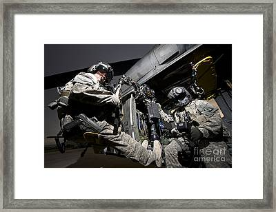U.s. Air Force Crew Strapped Framed Print by Terry Moore
