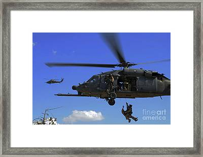 U.s. Air Force Pararescuemen Framed Print by Stocktrek Images