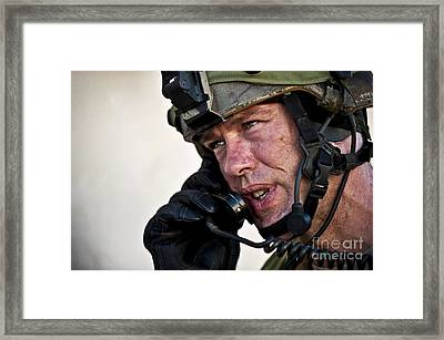 U.s. Air Force Sergeant Calls Framed Print by Stocktrek Images