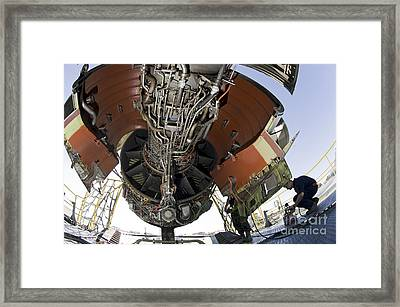 U.s. Air Force Technician Hydraulically Framed Print by Stocktrek Images