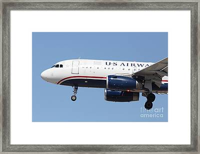 Us Airways Jet Airplane  - 5d18394 Framed Print by Wingsdomain Art and Photography