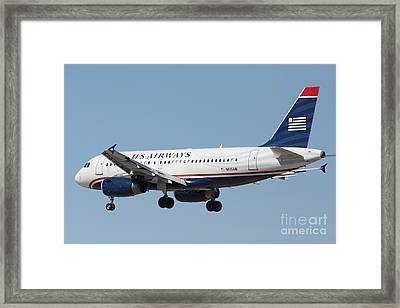 Us Airways Jet Airplane  - 5d18396 Framed Print by Wingsdomain Art and Photography