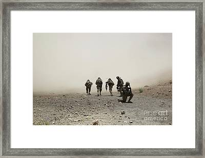 U.s. Army Captain Provides Security Framed Print by Stocktrek Images