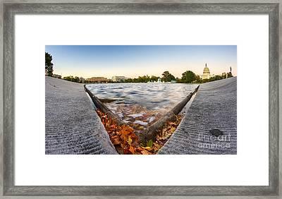 Us Capital Reflecting Pond Framed Print by Dustin K Ryan