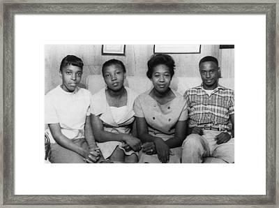 Us Civil Rights. From Left High School Framed Print by Everett