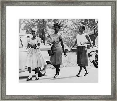 Us Civil Rights. From Left Integrated Framed Print by Everett