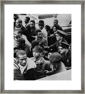 Us Civil Rights. Police Dispersing Framed Print by Everett