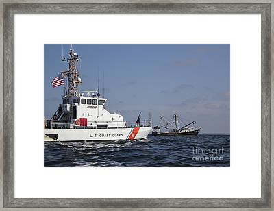 U.s. Coast Guard Cutter Marlin Patrols Framed Print by Stocktrek Images
