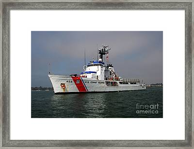 U.s. Coast Guard Cutter Steadfast Framed Print by Michael Wood
