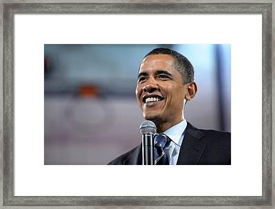 U.s. Democratic Presidential Candidate Framed Print by Everett